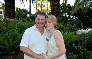 Las Vegas wedding officiant Julie Nourish and husband Karl