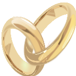Gold wedding ring photo - getting married in vegas