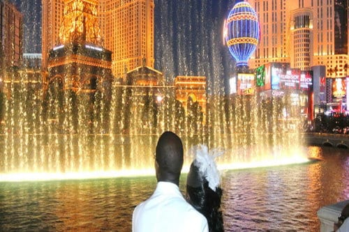 Bellagio Fountain at Night in Las Vegas