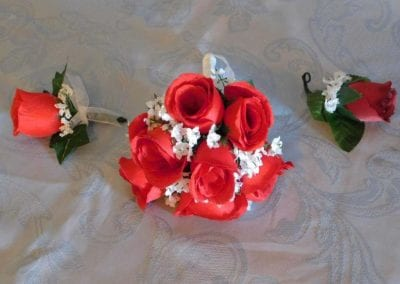Small 6 rose red bouquet