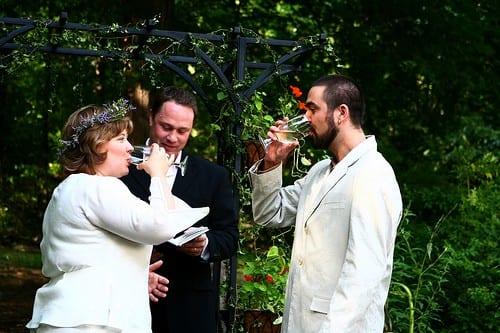 Wine Wedding Ceremony