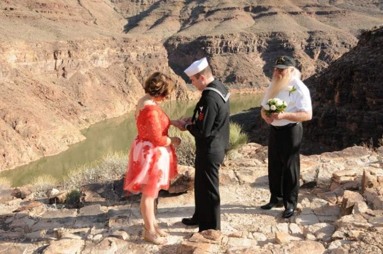 wedding renewal in Grand Canyon