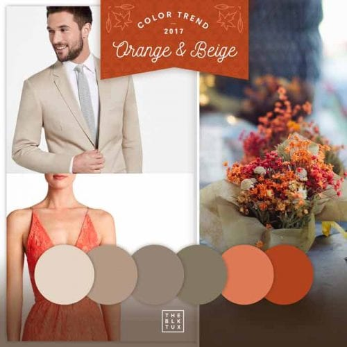 2018 orange and beige color trends