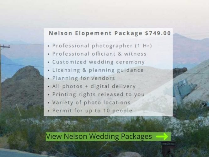 Nelson Ghost Town Wedding Packages