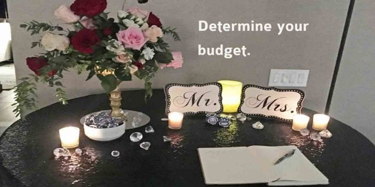 determine your Las Vegas wedding budget