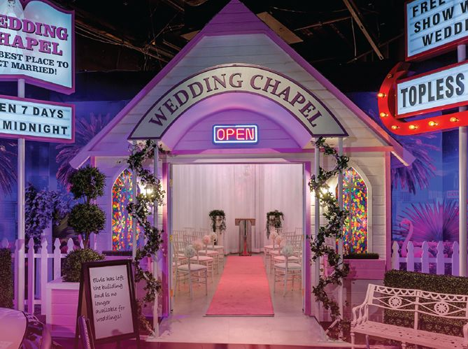 Wedding chapel at Madame Tussauds Ventian Las Vegas