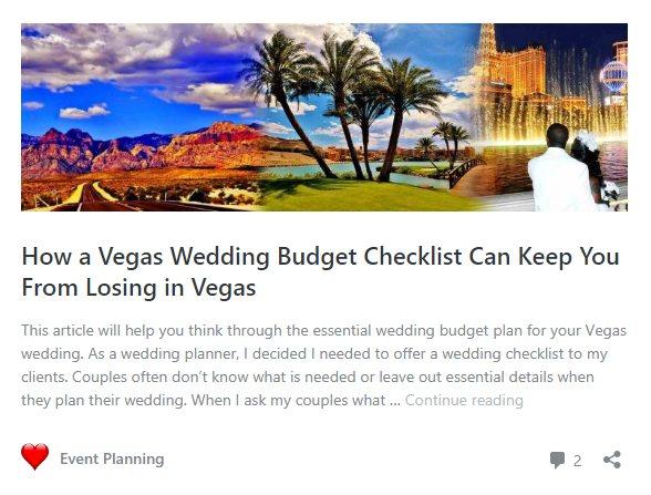 Wedding budget planning blog article