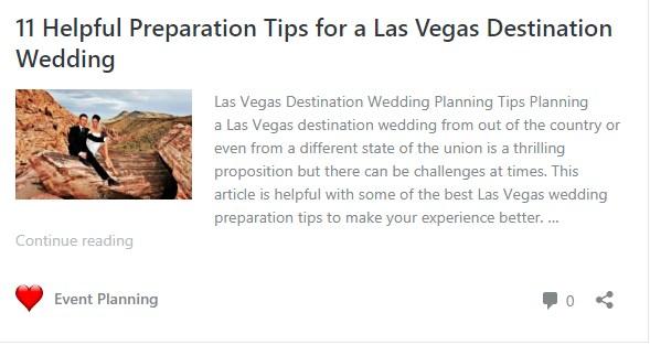 Wedding preparation blog article link