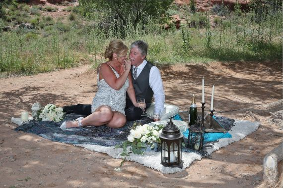 red rock canyon desert wedding