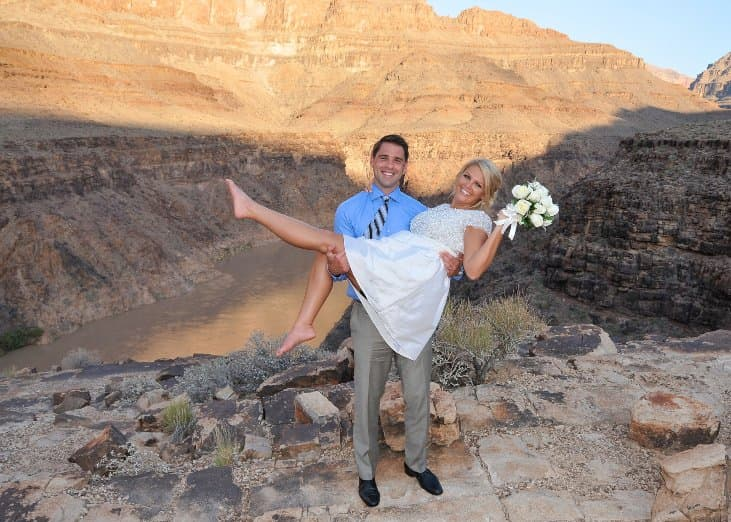 Grand Canyon Desert Wedding Photo