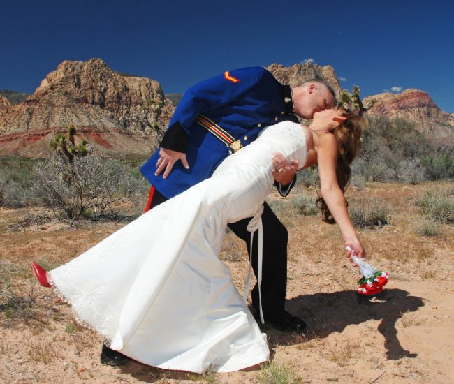 Spring Mountain Ranch desert wedding