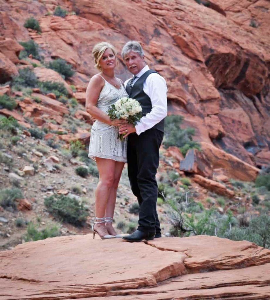 Desert wedding in vegas