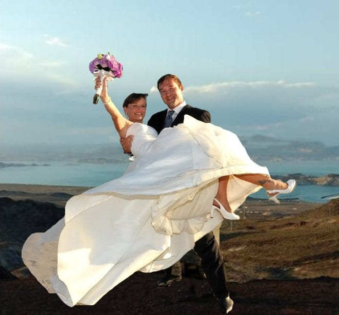 Lake Mead Desert Wedding