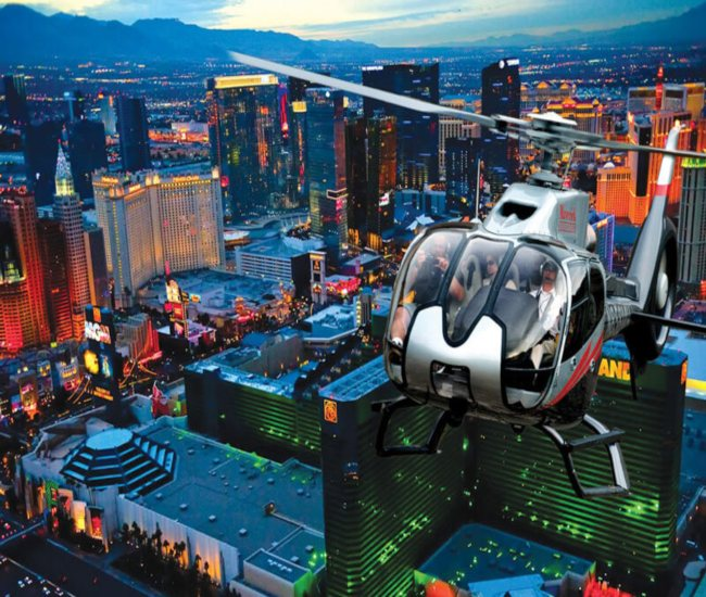 elope in las vegas with a helicopter flight