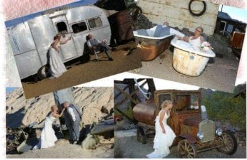 vintage wedding elopement