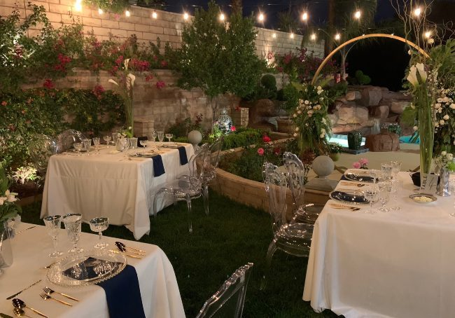 Small Vegas wedding reception